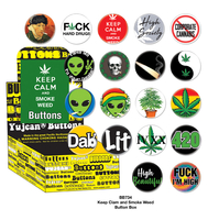 Keep Calm Smoke Weed Button Box
