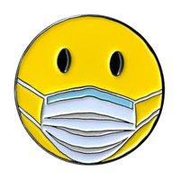 Smiley Mask Enamel Pin