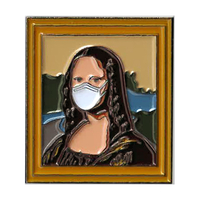 Mona Lisa Mask Enamel Pin