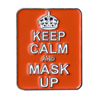 Keep Calm Mask Up Enamel Pin