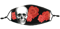 Skull and Roses Mask