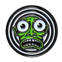 Kalynn Campbell Green Face Enamel Pin