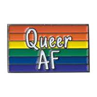 Queer AF Enamel Pin
