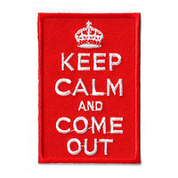 Keep Calm and Come Out Patch
