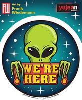 Wiedemann We're Here Alien Sticker