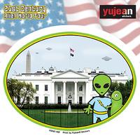 White House Alien Sticker