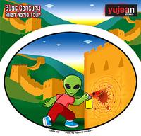 Great Wall Alien Sticker
