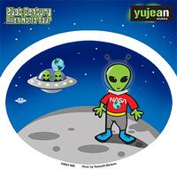 Moon Aliens Sticker