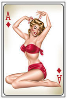 Ace Of Diamonds Pinup Postcard