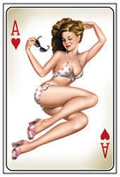 Ace Of Hearts Pinup Postcard