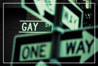 Gay Street Sign Pride Postcard