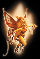 CLOSEOUT Orange Fairy Postcard