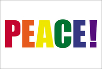 Pride Word Peace Postcard