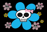Skulli Flower Postcard