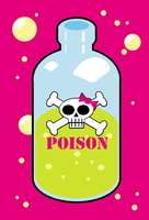 Skulli Poison Bottle Postcard