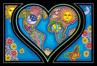 Dan Morris Heart And Earth Postcard