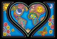 Dan Morris Heart And Earth Postcard
