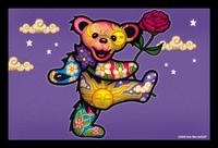 Dancing Bear With Rose Grateful Dead Postcard