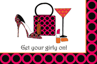 Get Your Girly On Postcard