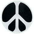 Black and White Mini Peace Patch