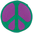 Mini Rainbow Peace Patch - Green/Purple