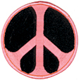 Mini Rainbow Peace Patch- Pink/Black