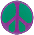 Mini Rainbow Peace Patch- Purple/Green