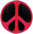 Mini Rainbow Peace Patch - Red/Black