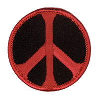 Peace Patch, Black and Red