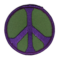 Peace Patch, Green and Purple