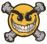 Smiley Face Crossbones Patch