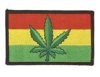 Pot Rasta Flag Patch