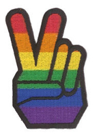 Rainbow Pride Peace Fingers Patch