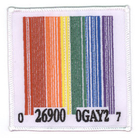 Pride Gay Barcode Patch