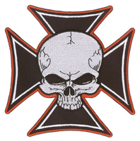 Aftermath Cross Skull Patch Large
