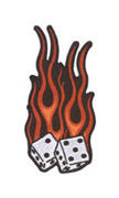 Aftermath Flame Dice Patch Small