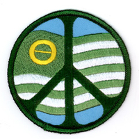 Ecology Flag Peace Sign Patch