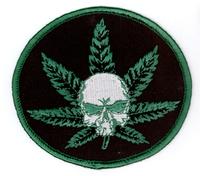 Skull Pot Leaf Patch
