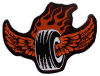 Vulture Kulture Flamin' Tire Biker Patch