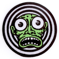 Kalynn Campbell Green Face Lowbrow Iron On Patch