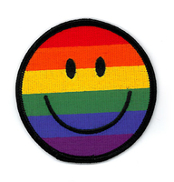 Gay Pride Rainbow Smiley Patch