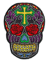 Rose Cross Sugar Skull Patch