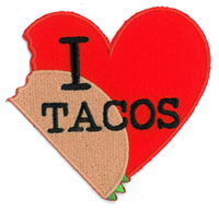 Evilkid I heart tacos patch