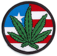 American Pot Flag Patch
