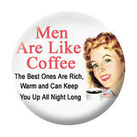 Men Like Coffee Button