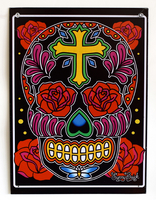 Sunny Buick Rose Cross Metal Sign