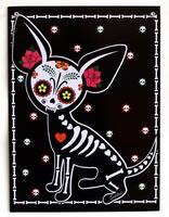 Evilkid Chihuahua Muerta Metal Sign
