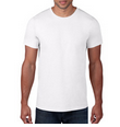 Mens/Unisex White Short Sleeve