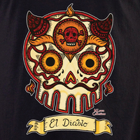 Mluera El Diablo Day of the Dead Skull Shirt