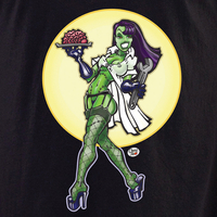 Derek Tall Zombie Brains Pinup Shirt